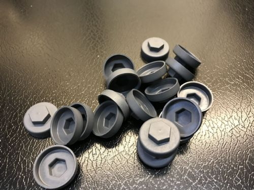 1000no. Slate Grey 16mm Colour Cap (Push On Colour Cap)